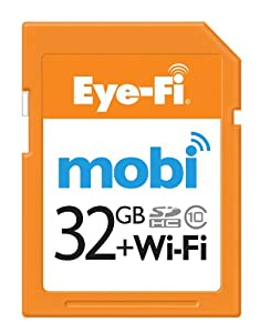 Eye-Fi Mobi 32GB SDHC Class 10 Wireless Memory Card with 90-day Eye-Fi Cloud Service, Frustration Free Packaging (MOBI-32-FF) CURRENT MODEL