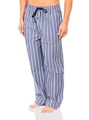 Ralph Lauren Pantalón de Pijama (Azul / Gris / Ciclamen)