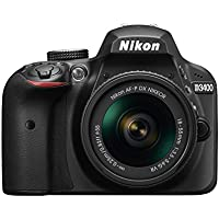 Nikon D3400 24MP HD Digital SLR Camera with 18-55mm Lens (Black)