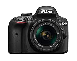 Nikon D3400 24.2 MP Digital SLR Camera (Black) with AF-P DX NIKKOR 18-55mm f/3.5-5.6G VR Lens Kit with 8 GB Card and Camera Bag