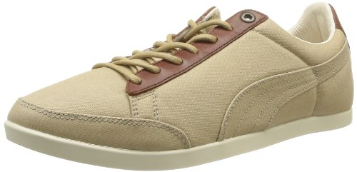 Puma Men's Catskill Canvas Lace-Up Flats Beige Beige (Whey/Brown/White/Bronze) 6 (40 EU)