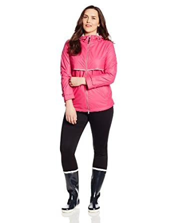 Charles River Apparel Women's New Englander Waterproof Rain Jacket, Hot Pink Reflective, X-Small