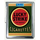 Vintage Lucky Strike Green Pack Cigarette Case Lighter Wallet Card Holder