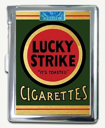 03. Vintage Lucky Strike Green Pack Cigarette Case Lighter Wallet Card Holder