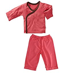 Baby Soy Kimono Top and Slip On Pants Set in Blossom (0-3M)