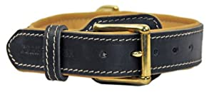 "Dean & Tyler Amazing Leather Dog Collar ""Italian Tailor"" - High Quality Leather From Netherlands with Beautiful Hardware From Italy!!! - Size Small 46cm - 53cm Neck Size - Black - Contact Us If You'd Like It in Brown or Bigger Size!!!"