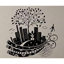 Modern City 6 - Vinyl Wall Decals Murals Stickers Art Graphic - 29