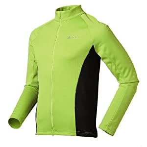 Odlo Herren Radsport Stand-Up Collar Longsleeve Full Zip Warm, tender shoots - black, L, 410532
