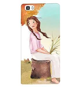 Fuson 3D Printed Girly Designer back case cover for Huawei P8 - D4320