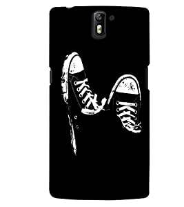 MakeMyCase black shoes case For One Plus One