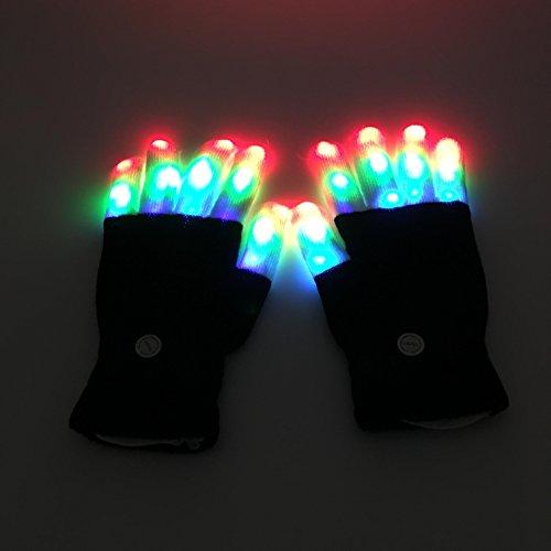 Latom LED Gloves Party Light ... & Latom LED Gloves Party Light Show Gloves 6 Modes Colorful Flashing ...