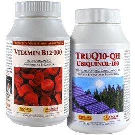 Truq10 Qh Ubiquinol-100 + Vitamin B12-100 Kit 240 Servings