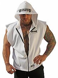 Physique Bodyware Mens Sleeveless Hoodie XXL White.