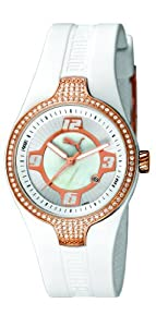 Puma PU101942002 - Reloj analógico de cuarzo unisex con correa de caucho, color blanco