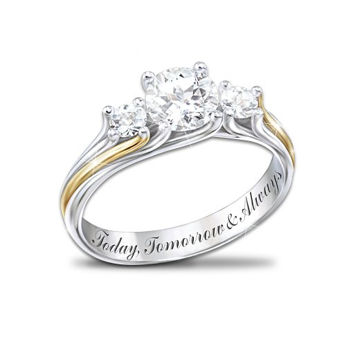 Engraved Topaz Ring: I Am Yours by The Bradford Exchange