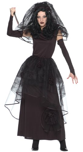 Dark Bride 3pc Womens Costume Black