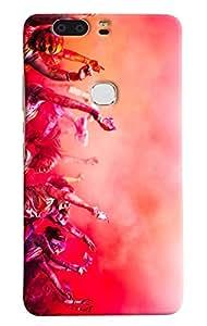 Omnam People Celebrating Indian Festival Holi Printed Designer Back Case For Huawei Honor V8