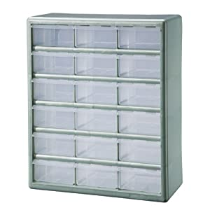 Do You Want To Get Stack On DSMG 18 18 Bin Plastic Drawer Parts Storage  Organizer Cabinet, Metallic Green? Certainly ..! You Come To The Right Site.