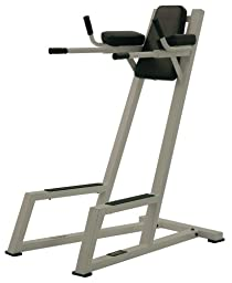 York Barbell Vertical Knee Raise with Dip Station - Silver
