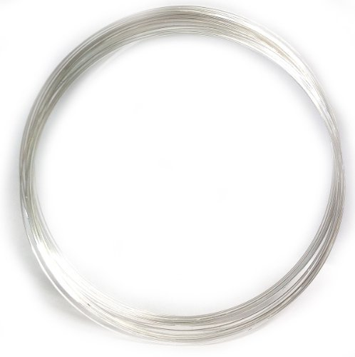 22 Gauge Silver Plated 20 Spools Nacklace Memory Wire 66167sp