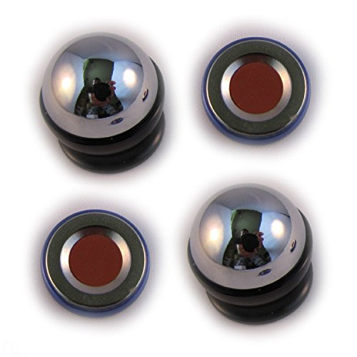 DOUBLE Magnetic Dash Mount Kit for Cell Phones. 2 Dash Balls and 2 Strong Neodymium Magnets (2 Magnets + 2 Balls) (Steelie Vent Mount compare prices)
