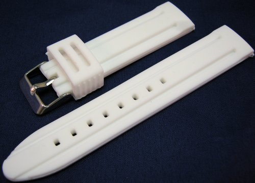 White Silicone Watch Strap Band 22mm