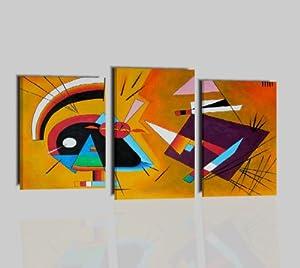 Quadri moderni olio su tela astratti kandinsky nero e for Amazon quadri moderni astratti