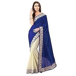 BlueWith Georgette t Designer Lehenga Saree