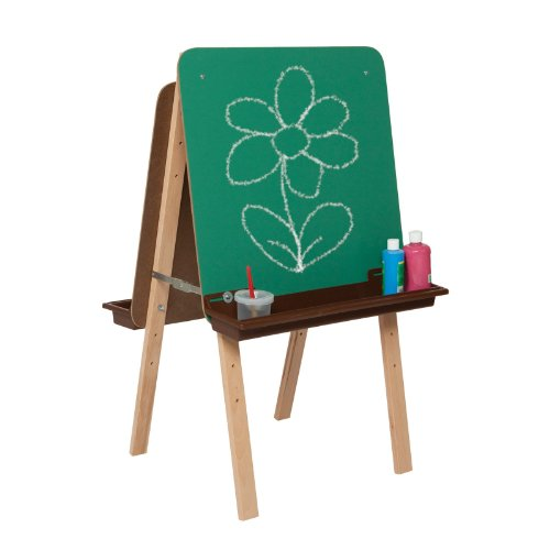 Wood Designs Tot Easel with Brown Trays