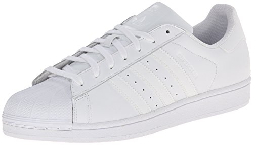 Adidas Originals Men's Superstar Foundation Casual Sneaker, White/Running White/White, 10 M US