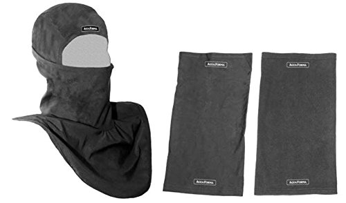 AguaForma Multi Sport Hood ~ Mask Set ✮ Best Head, Face & Neck Cold or Hot Weather Balaclava & Helmet Liner ✮ Includes Two Extra Long Classic Gaiters, 1 Fleece & 1 Lycra, Plus a Bonus Gift ✮ For Outdoor & Tactical Sports, Hiking, Hunting, Motorcycling