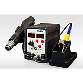 New SMD Rework Soldering Station Hot Air Gun Soldering Iron