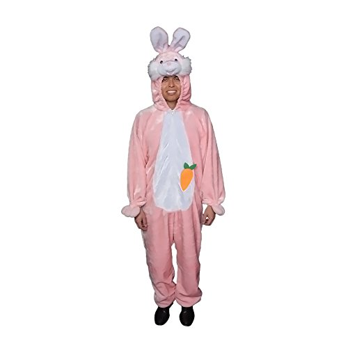 Adult Easter Bunny Pink Plush Costume Size Adult one size fits most