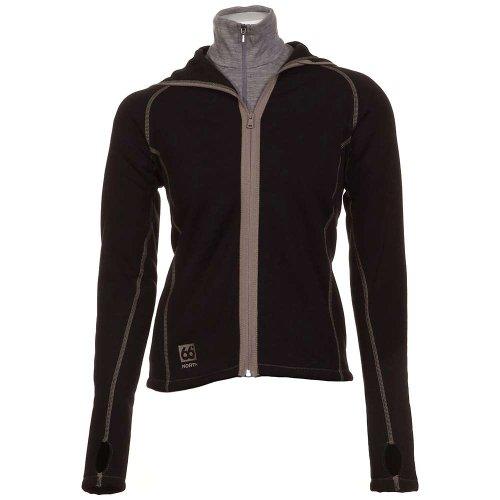 66 North Women'S Vik Hooded Jacket, Black 900, Small