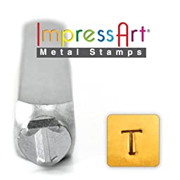 ImpressArt- 6mm, Tau Greek Letter Stamp