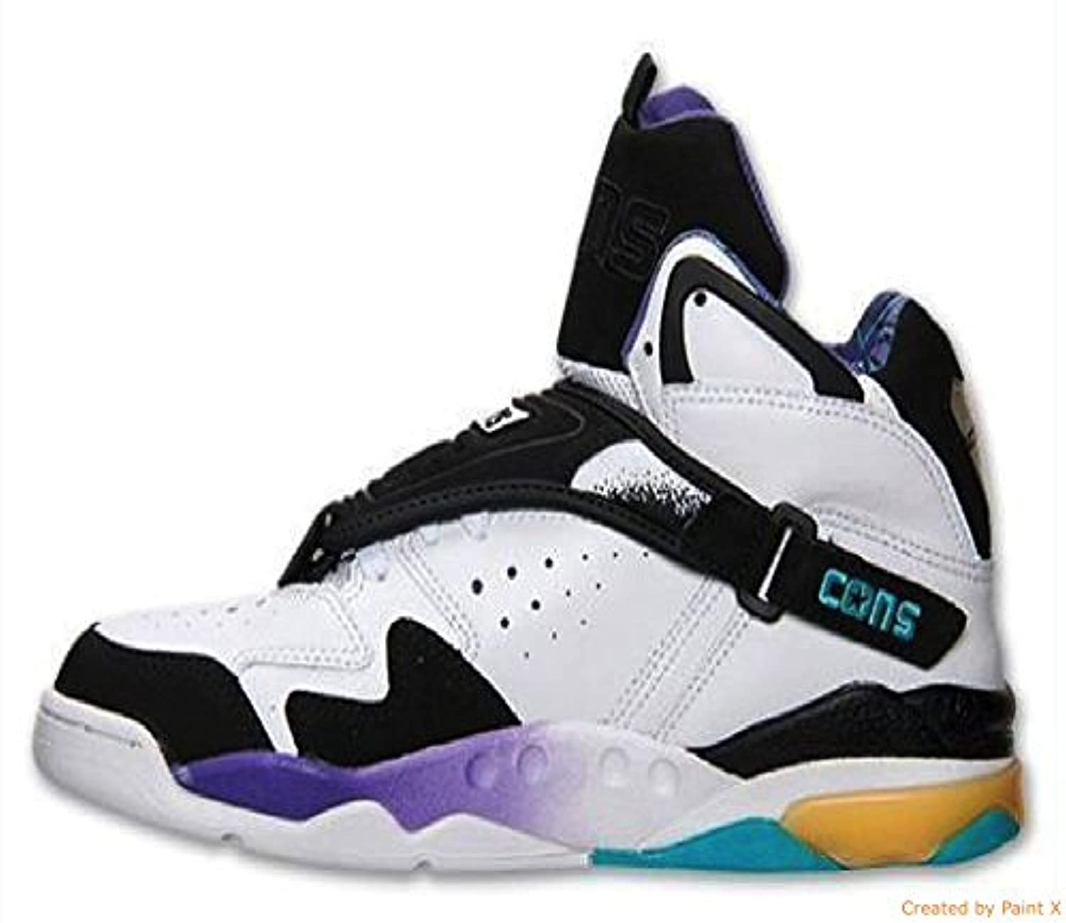 a2931e1edd79f9 ... Converse Aero Jam Hi Grandmama (Larry Johnson Retro) Black White Blue   ...