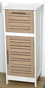 Colonne meuble bas de salle de bain aspect ch ne vieilli - Meuble de salle de bain amazon ...