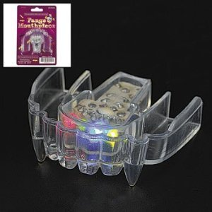 Led Flashing Fangs Mouthpiece (1 dozen) - Bulk [Toy]