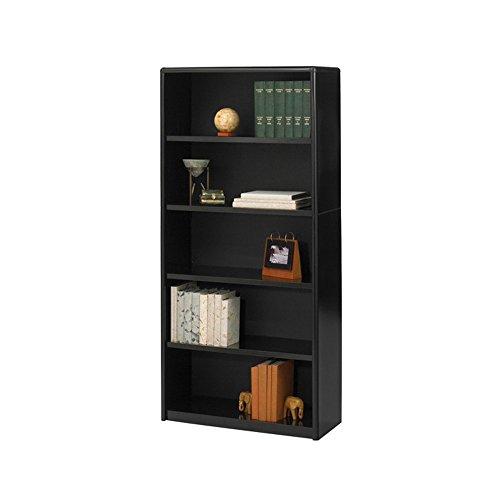 Safco Home Office 5-Shelf ValueMate Economy Bookcase - Black Safco Workspace 5 Shelf