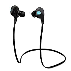 Mpow Swift Bluetooth 4.0 Wireless Sport Headphones Sweatproof Running Gym Exercise Bluetooth Stereo Earbuds Earphones Car Hands-free Calling Headsets with Microphone and High-fidelity Stereo Sound via apt-X for iPhone 6 6 plus 5S 4S Galaxy S6 S5 and iOS a