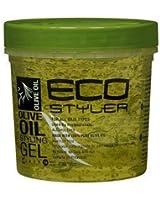 Eco Styler Gel coiffant à base d'huile d'olive - Pour tous types de cheveux - Sans alcool - 354 ml
