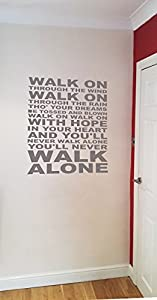 You'll Never Walk Alone Wall Art Liverpool FC YNWA. By Ellis Graphix (Silver) from Ellis Graphix