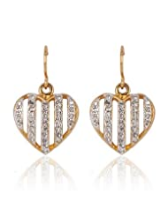 Estelle Gold Plated Danglig Earring With Crystals (473/719)