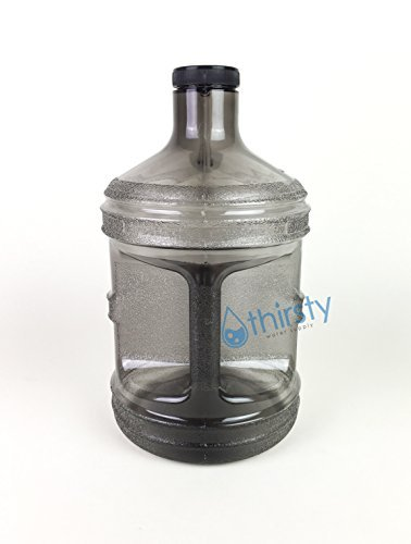 1 Gallon Water Bottle Grey BPA Free Plastic Jug Canteen Reusable Container Drinking H2O Aqua New (Bpa Free Water Jug 1 Gallon compare prices)
