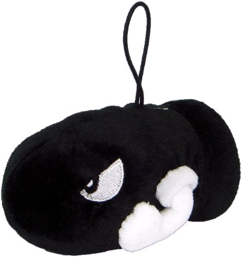 "Nintendo Official Super Mario Bullet Bill Plush, 4"" front-505840"