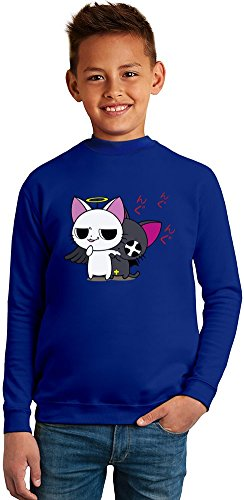 Sailor Moon Luna & Artemis Superb Quality Boys Sweater by TRUE FANS APPAREL - 50% Cotton & 50% Polyester- Set-In Sleeves- Open End Yarn- Unisex for Boys and Girls 8-9 years