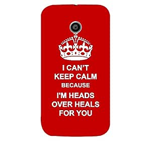 Skin4gadgets I CAN'T KEEP CALM BECAUSE I'M HEADS OVER HEALS FOR YOU - Colour - Red Phone Skin for MOTOROLA MOTO E 1ST G