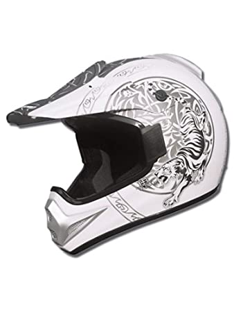 Marushin casque de moto xMR tiger flat blanc