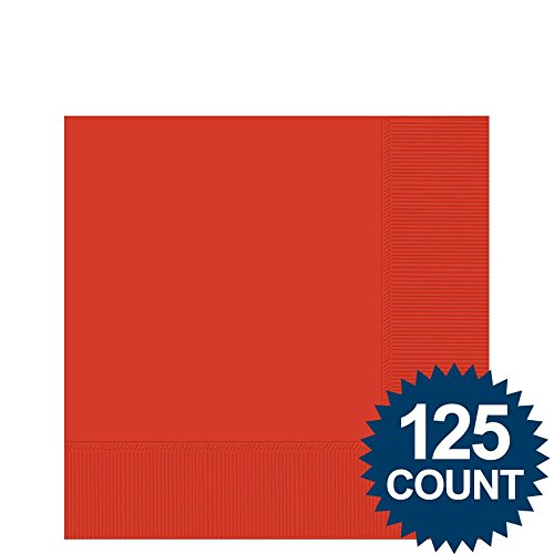 Red Beverage Napkins, 125 ct. - Party Supplies - 1