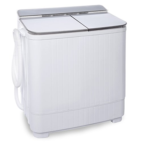 Ivation Small Compact Portable Washing Machine - Twin Tub Washer & Spin with 8 Lb. Wash Capacity & 4.4 Lb. Spin Capacity - Includes Drainage Pump & Tube - Ideal for Dorm Rooms, RV & More (Small Compact Washing Machine compare prices)